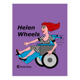 Helen Wheels Hell on Wheels Postcard