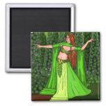 Helena Belly Dancer Square Magnet