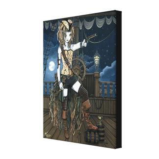 """""""Helena"""" Sky Pirate Ship Fae Wrapped Canvas Print"""