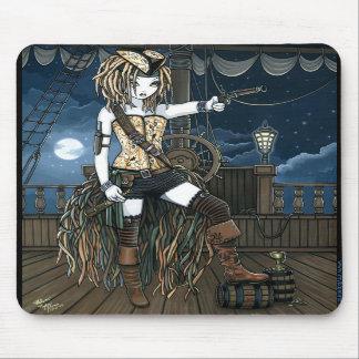 """Helena"" Sky Pirate Ship Moon Fae Mousepad"
