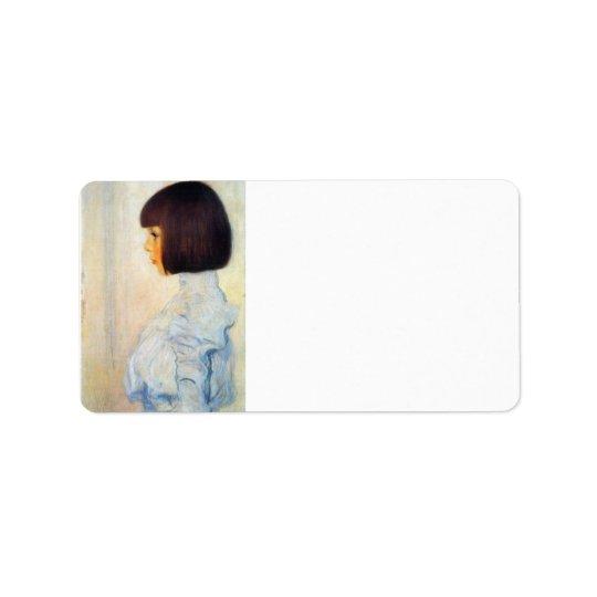 Helene Klimt portrait by Gustav Klimt Label