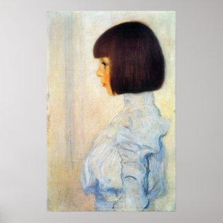 Helene Klimt portrait by Gustav Klimt Poster