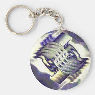 Helene's Boudoir Basic Round Button Key Ring