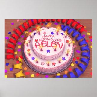 Helen's Birthday Cake Posters