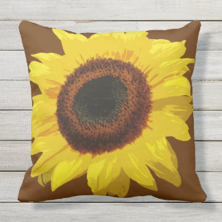 Helianthus annuus - Outdoor Pillow