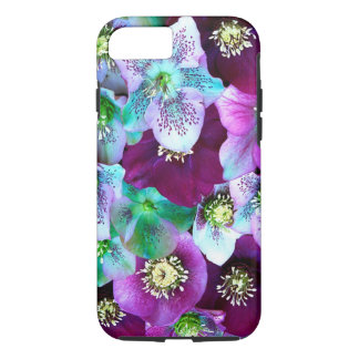 Heliborus pattern of winter blooming flower, iPhone 8/7 case