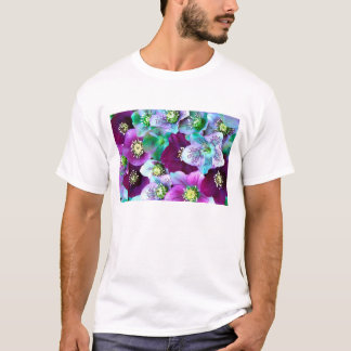Heliborus pattern of winter blooming flower, T-Shirt