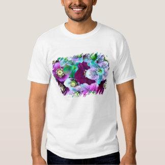 Heliborus pattern of winter blooming flower, tee shirt