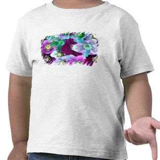 Heliborus pattern of winter blooming flower, tshirt