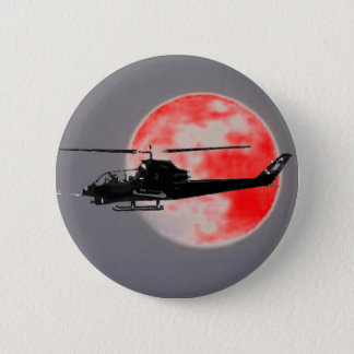 HELICOPTER 6 CM ROUND BADGE