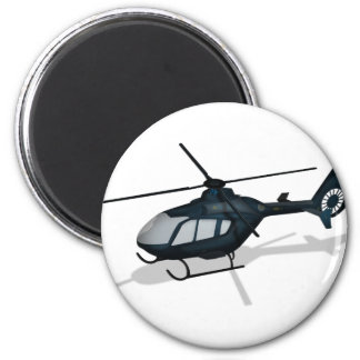 Helicopter 6 Cm Round Magnet