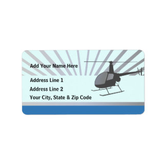 Helicopter Aircraft Address Label