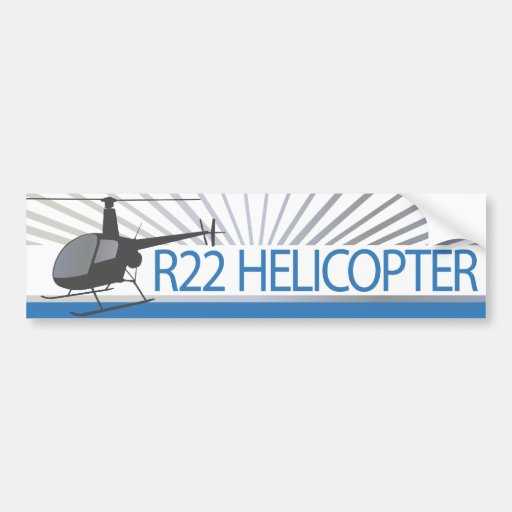 Helicopter Aircraft Bumper Sticker