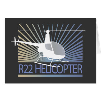 Helicopter Aircraft Card