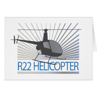 Helicopter Aircraft Greeting Card