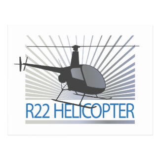 Helicopter Aircraft Postcards