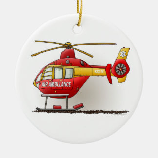 Helicopter Ambulance Air Ambulance Ornament