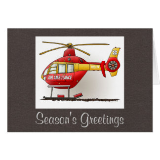 Helicopter Ambulance Greeting Card
