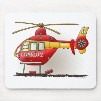 Helicopter Ambulance Mouse Pad