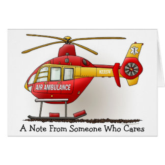 Helicopter Ambulance Note Card