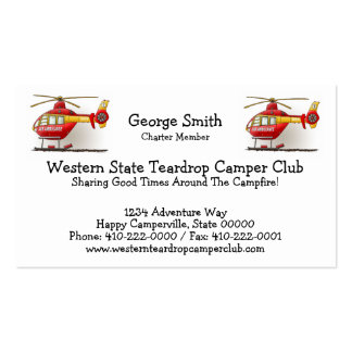 Helicopter Ambulance Pack Of Standard Business Cards