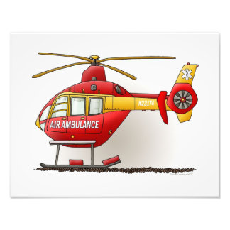 Helicopter Ambulance Photographic Print