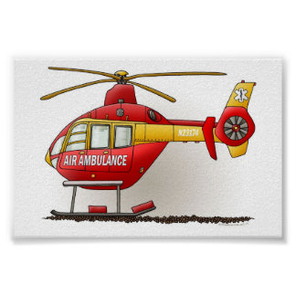 Helicopter Ambulance Poster