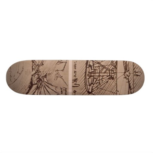 Helicopter and lifting wing skateboard decks