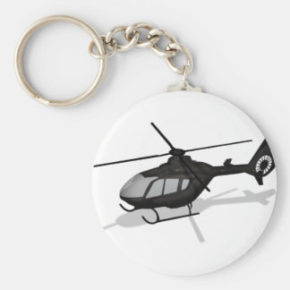 Helicopter Basic Round Button Key Ring
