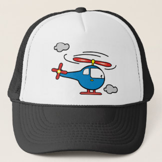 Helicopter Blue an Red Trucker Hat