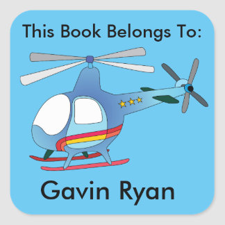 Helicopter Boys Book Label Sticker