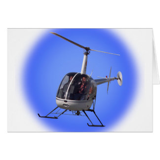 Helicopter Card Flying Chopper Greeting Card