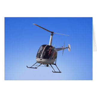 Helicopter Card Flying Chopper Greeting Cards