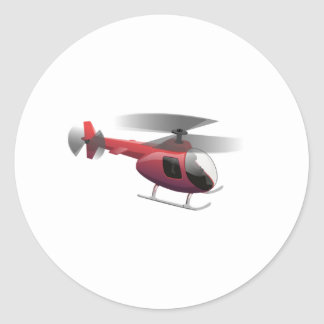 Helicopter Cartoon Classic Round Sticker