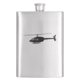 Helicopter Chopper Silhouette Customize Color Flasks
