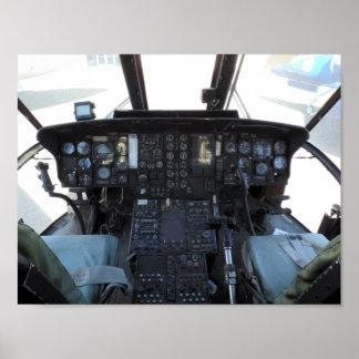 Helicopter Cockpit Poster