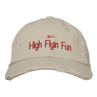 Helicopter Embroidered Hat