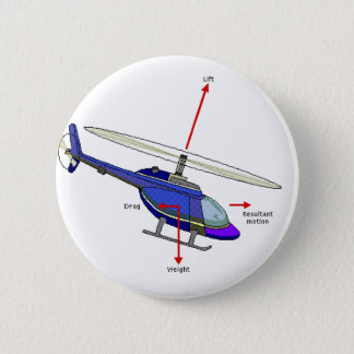 Helicopter Flight Diagram 6 Cm Round Badge