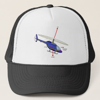 Helicopter Flight Diagram Trucker Hat