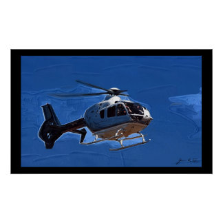 Helicopter Flyby Poster