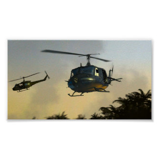 Helicopter Flying Circus Vietnam Poster