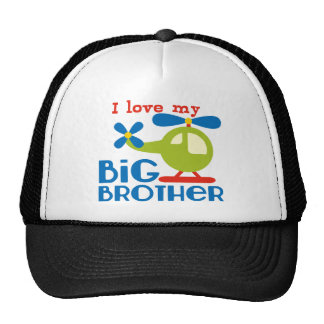 Helicopter I Love my Big Brother Cap
