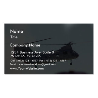 Helicopter In Air Business Cards