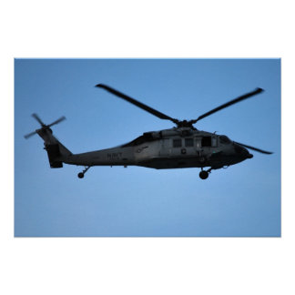 helicopter in flight poster