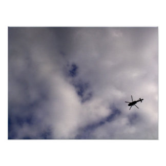 Helicopter In Sky Print