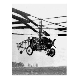 Helicopter Invention Postcard