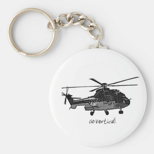 Helicopter Key Chain