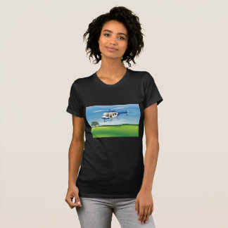 Helicopter Landing Womens T-Shirt
