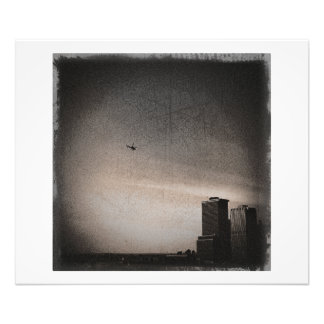 helicopter over new york bay photograph