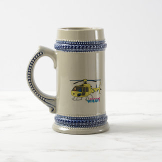 Helicopter Pilot Beer Steins